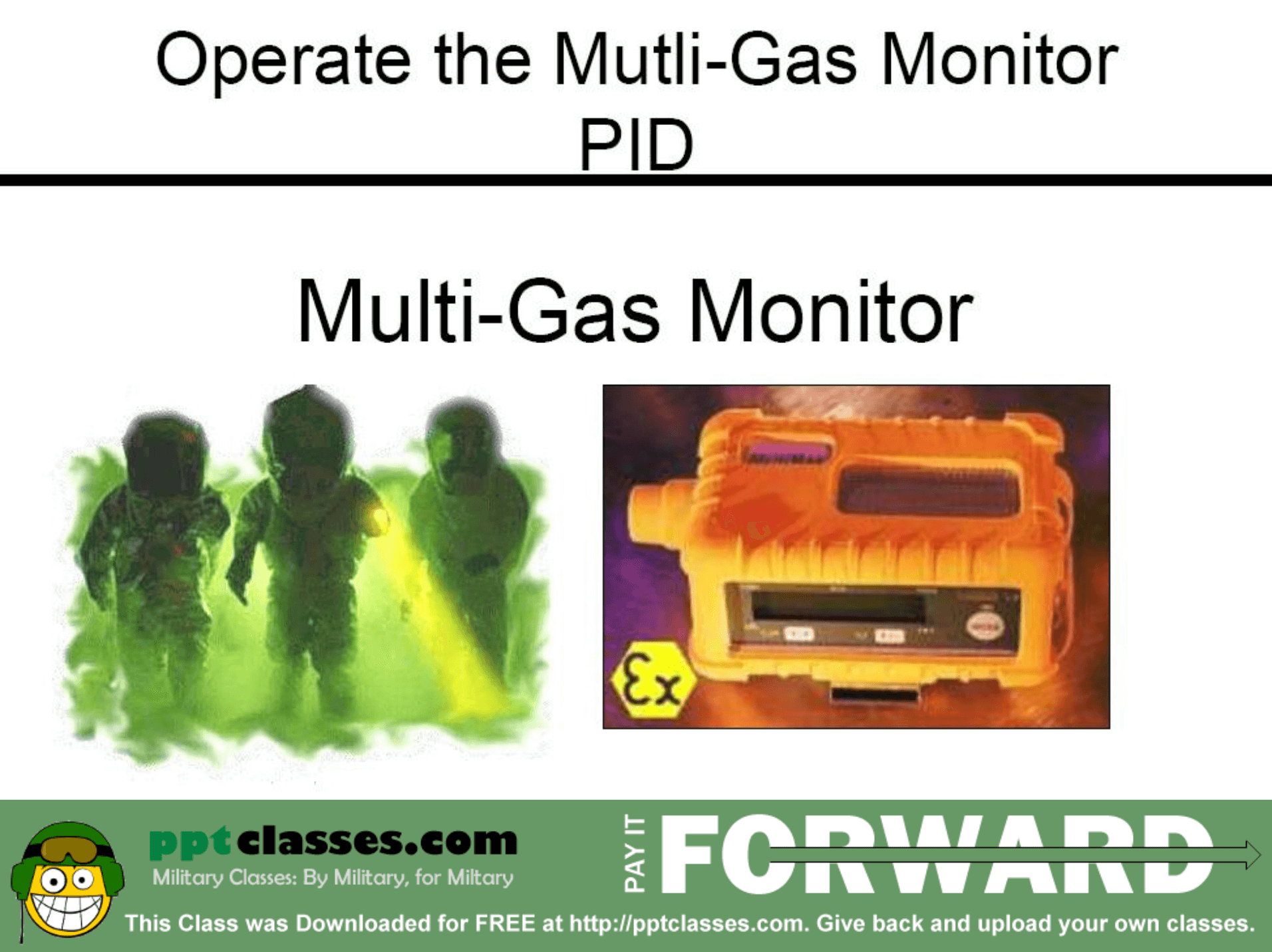 Operate the Mult Gas Monitor