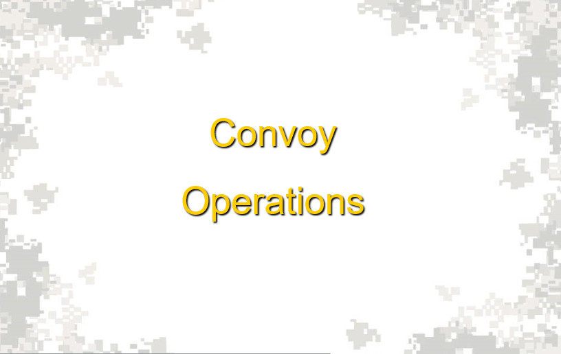 Convoy Operations NCOPD