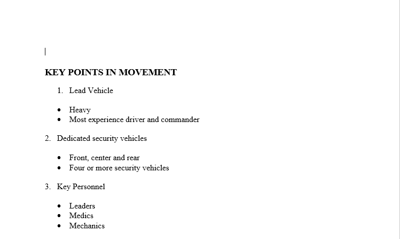Key Points of a Convoy