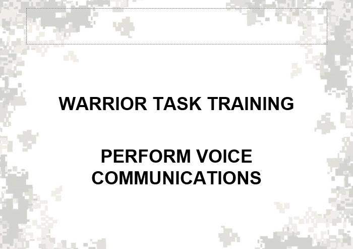Performance Voice Communication
