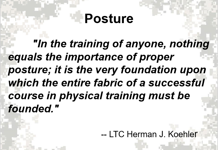 A powerpoint class on posture