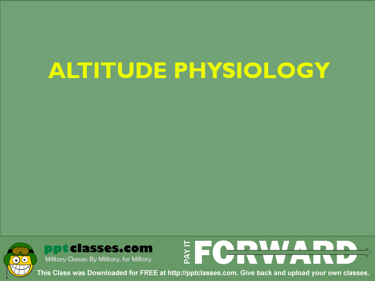 Altitude Physiology