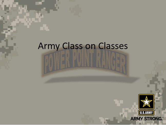 Military Training, Military Training (How to), PowerPoint Ranger, Pre-made Military PPT Classes, PowerPoint Ranger, Pre-made Military PPT Classes