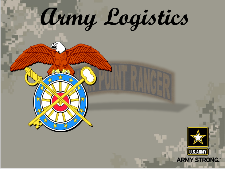 Army Logistics Overview