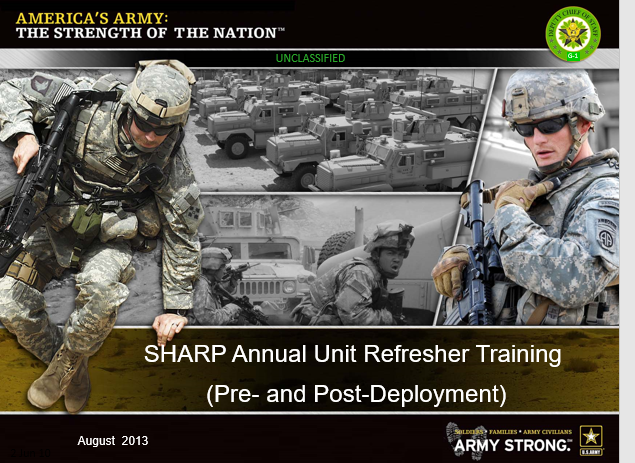 Army SHARP-Official Annual Refresher Training