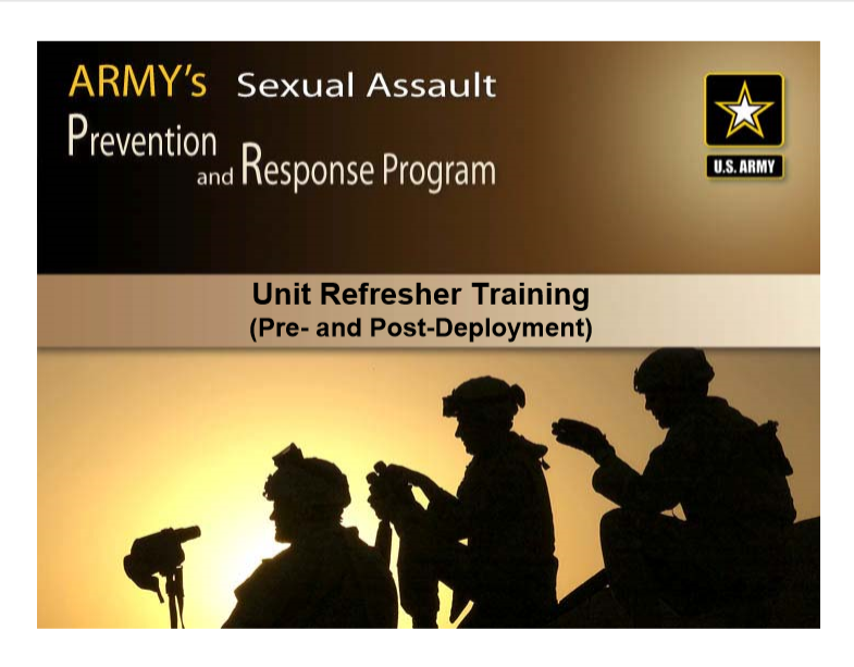 Army Sexual Assault Prevention