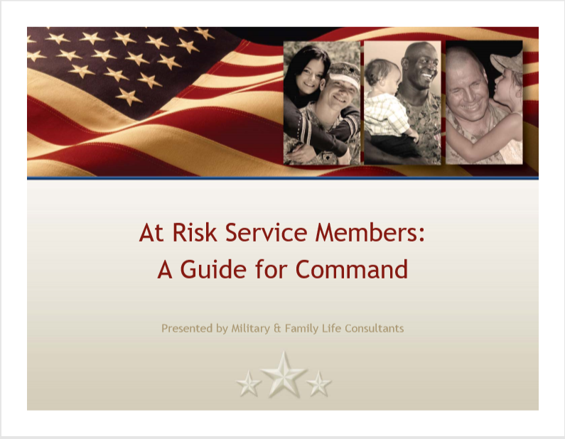 At Risk Service Members (All Services)