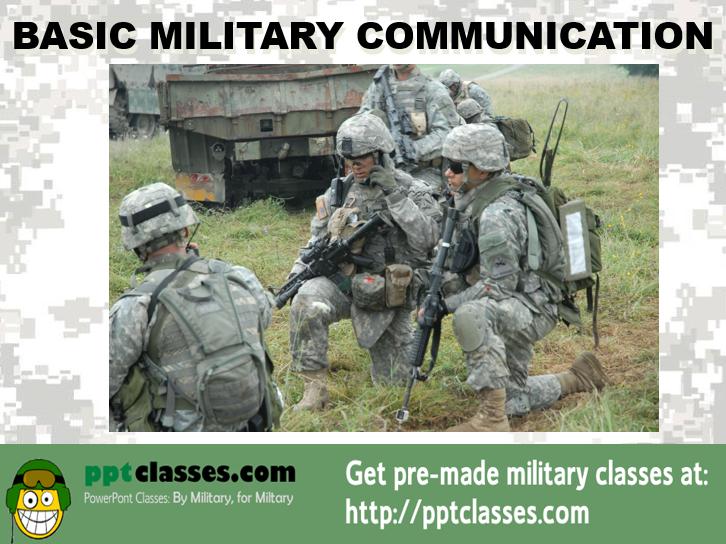 Basic Army Communications
