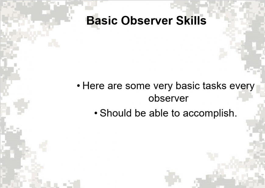 Basic Field Artilley Observer