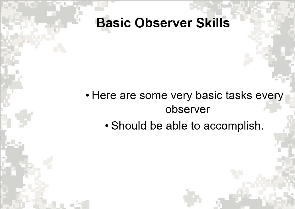 Basic Field Artilley Observer