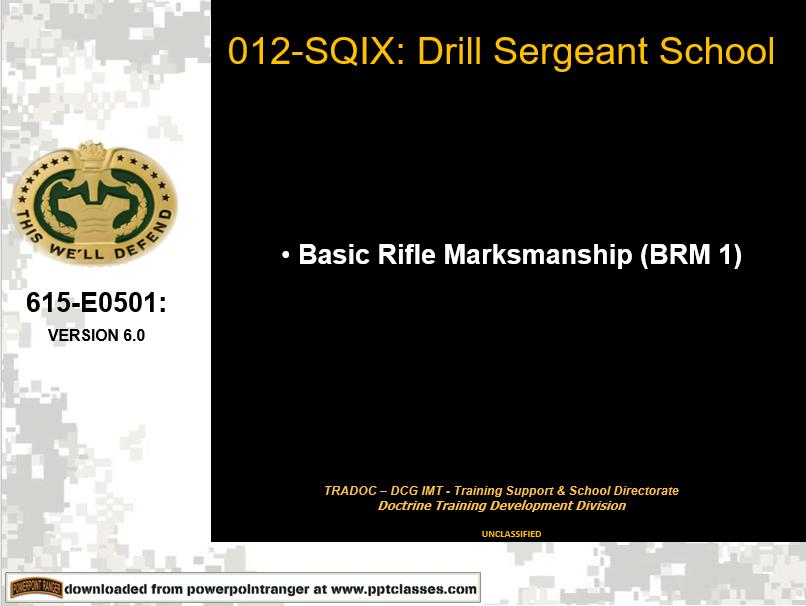 A power point class on basic rifle markmanship