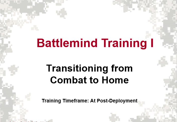 Battlemind Training, Soldier