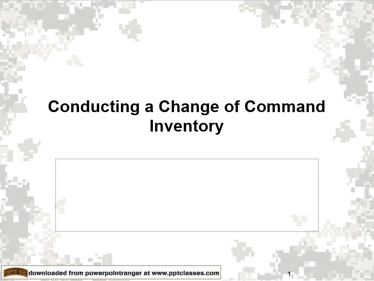 Change of Command Inventory