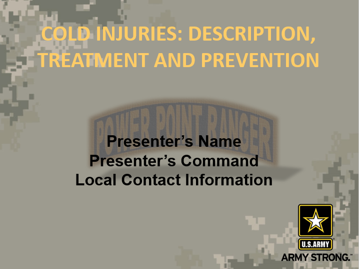 Cold Weather Injuries