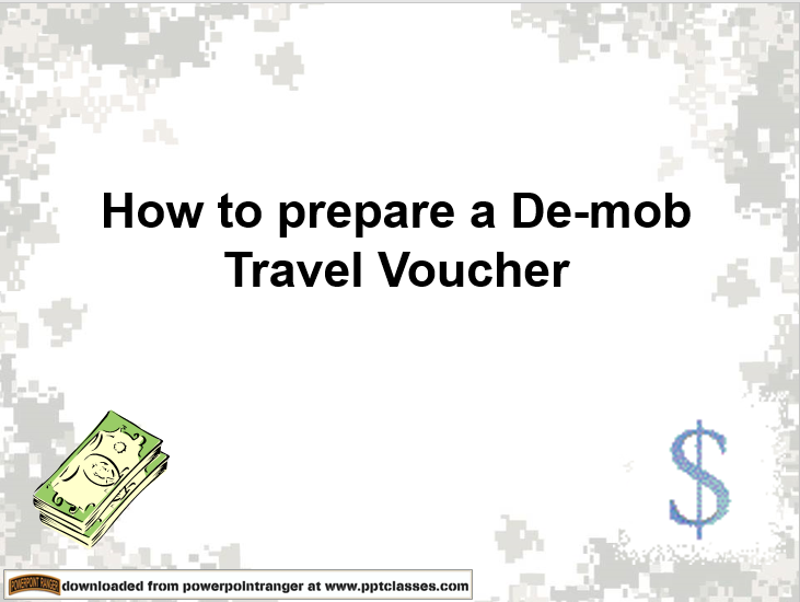 De-Mob Travel Voucher