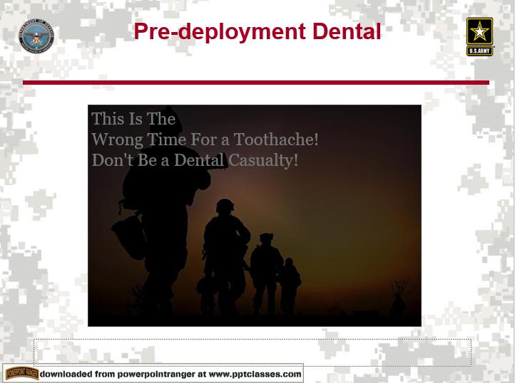 Dental Pre-deployment