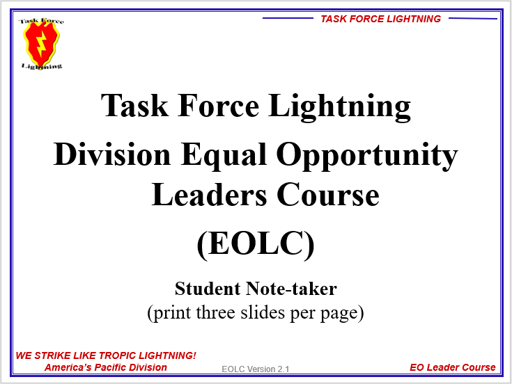 EO Leaders Course