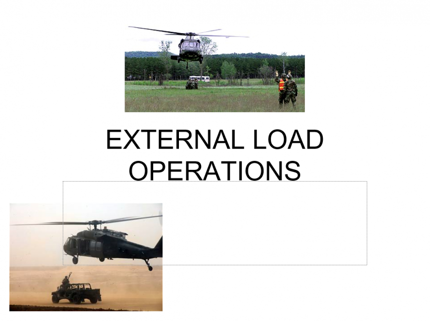 External Sling Load Operations