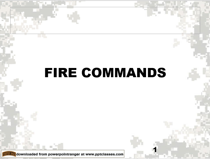 Fire Command Information