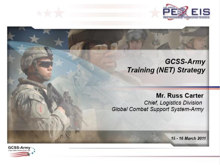 GCSS-Army Training Strategy