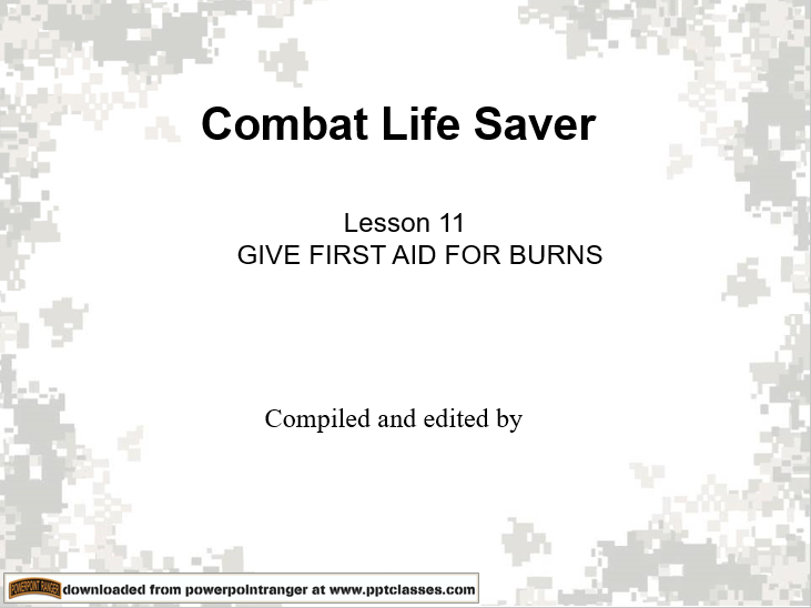 Give first aid for burns
