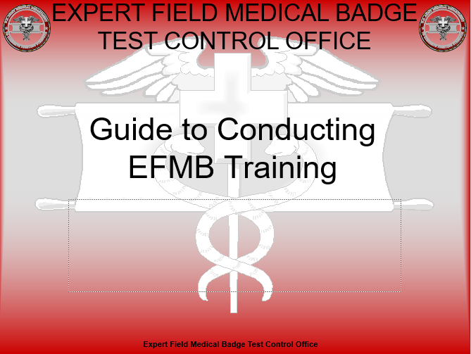 Guide To Conducting EFMB Training
