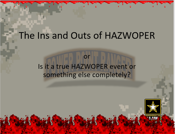 HAZWOPER Ins and Outs