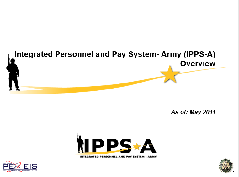 Integrated Personnel and Pay System-Army (IPPS-A) Overview