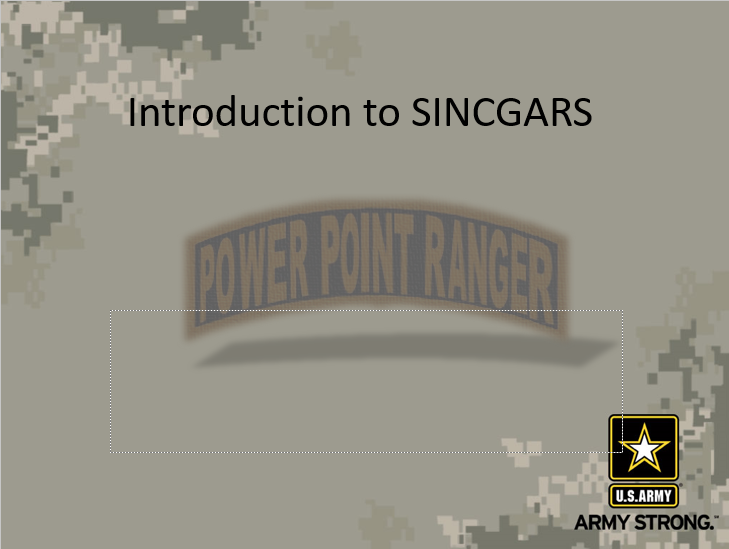 Intro to SINCGARS