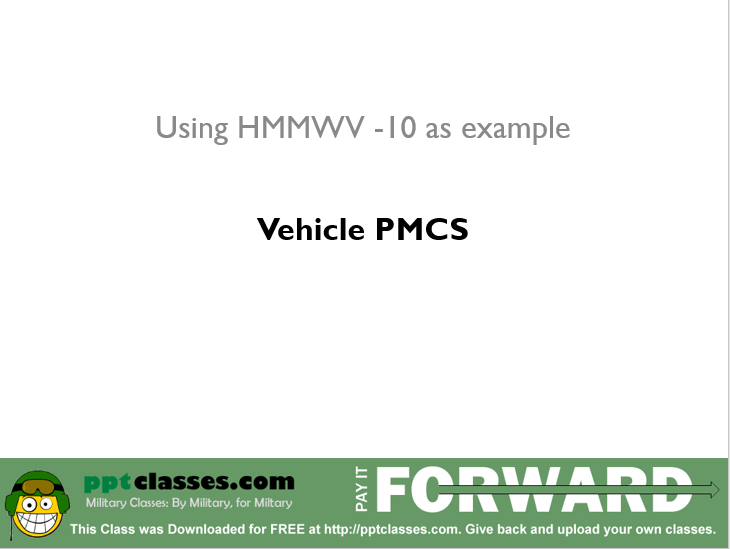 Leak Classification for the PMCS