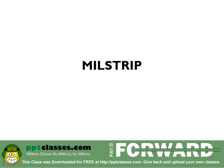 MILSTRIP