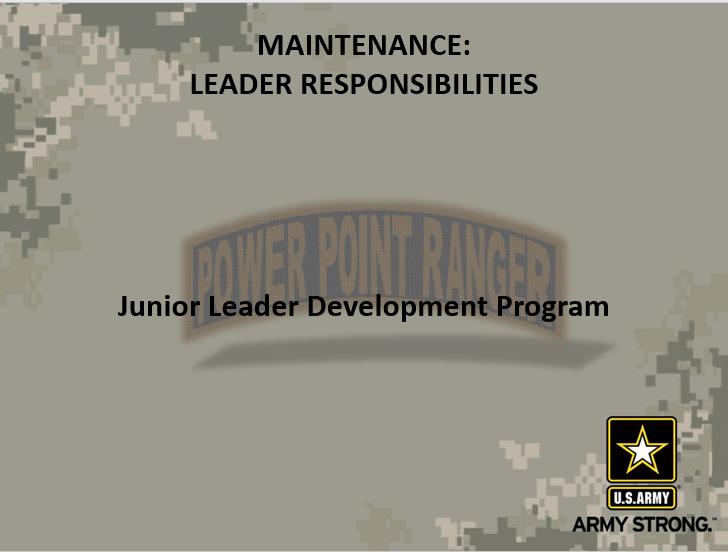 Maintenance Leaders Responsibilities