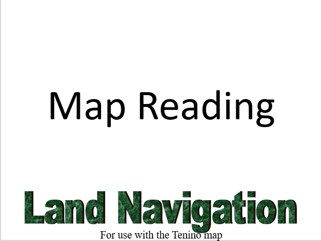 Land Navigation, Land Navigation and Map Reading, PowerPoint Ranger, Pre-made Military PPT Classes, PowerPoint Ranger, Pre-made Military PPT Classes
