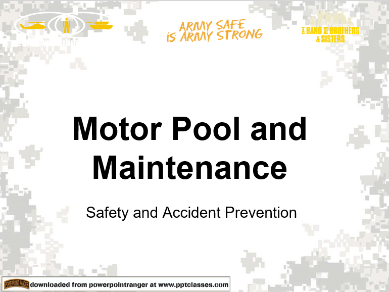 Motorpool Safety