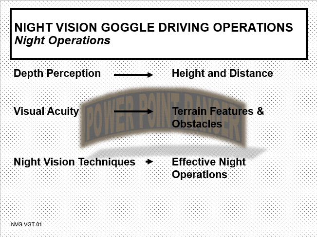 NVG Driving Operations