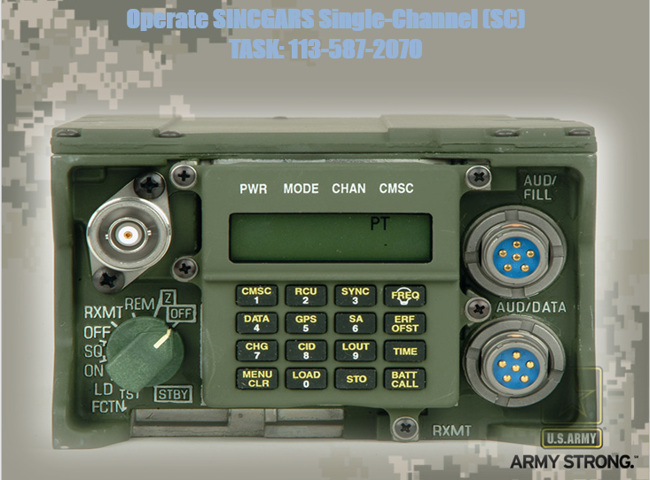 Operate SINCGARS Single Channel