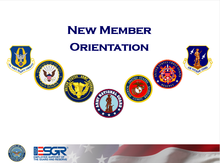 Orientation For New Members, ESGR Volunteer