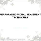 Perform Individual Movement Techniques (IMT)