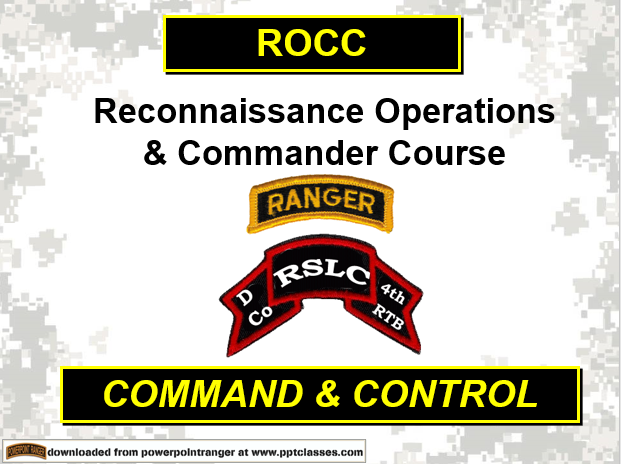 Recon Operator And Commanders Course Overview