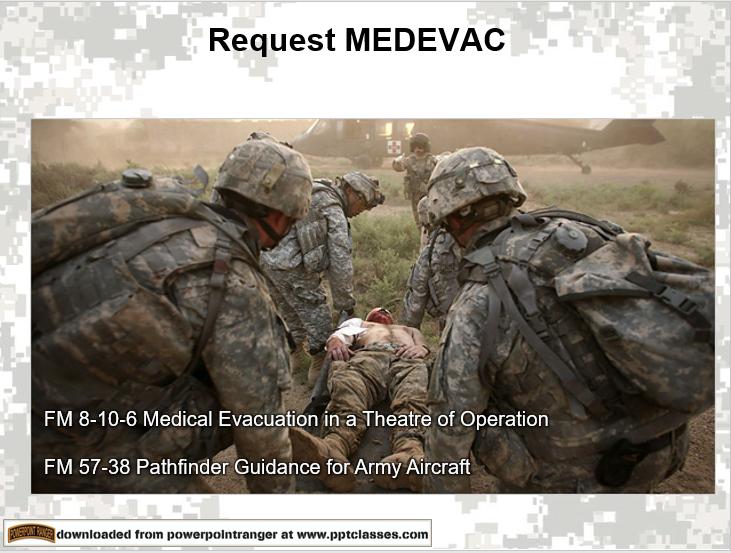 Request MEDEVAC