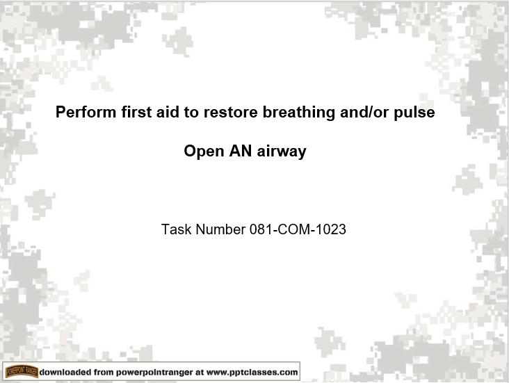 Restore Breathing (081-COM-1023)