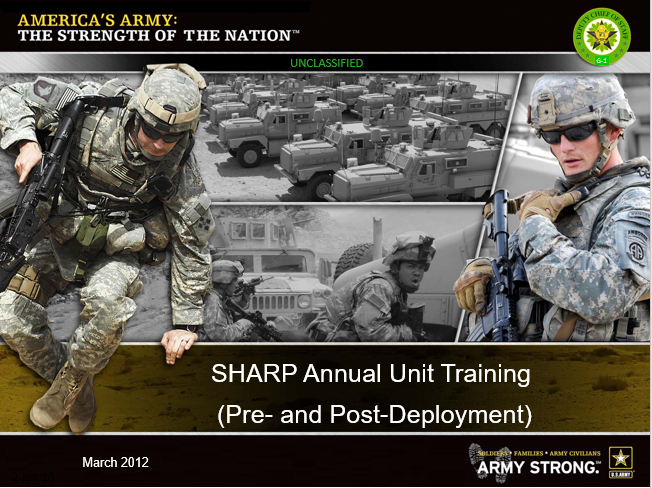 SHARP Annual Training