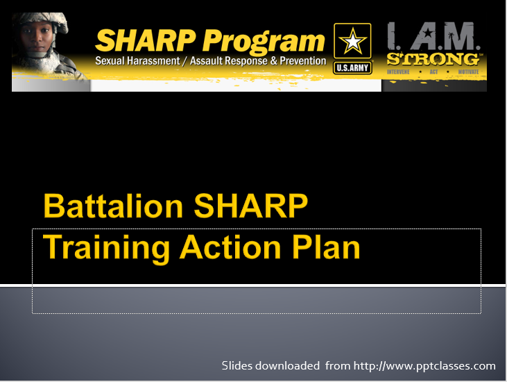 SHARP Training Plan