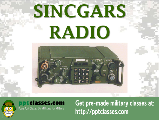 SINCGARS Overview