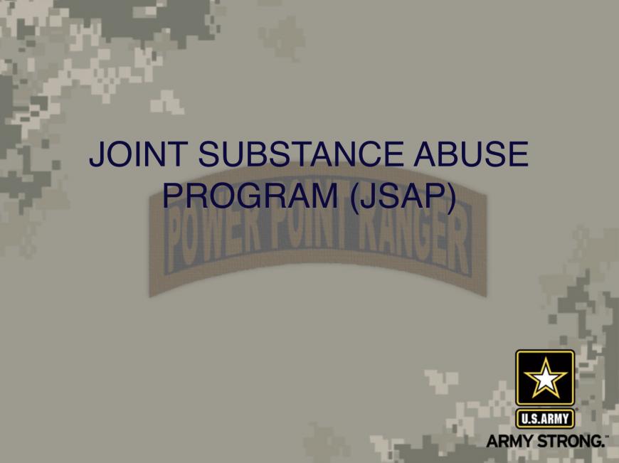 Joint Substance Abuse Slide