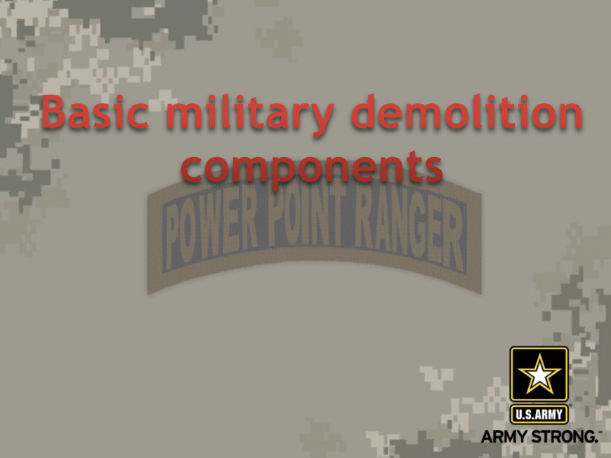 Combat Engineer, Combat Engineer and Sapper, PowerPoint Ranger, Pre-made Military PPT Classes, PowerPoint Ranger, Pre-made Military PPT Classes