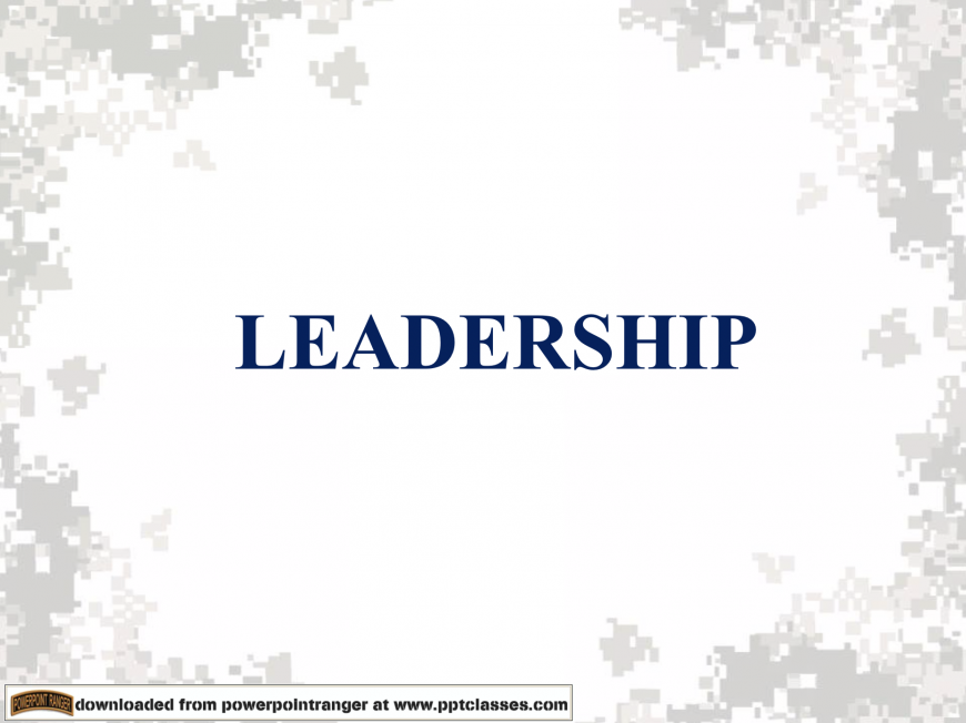 Leadership PPT Class