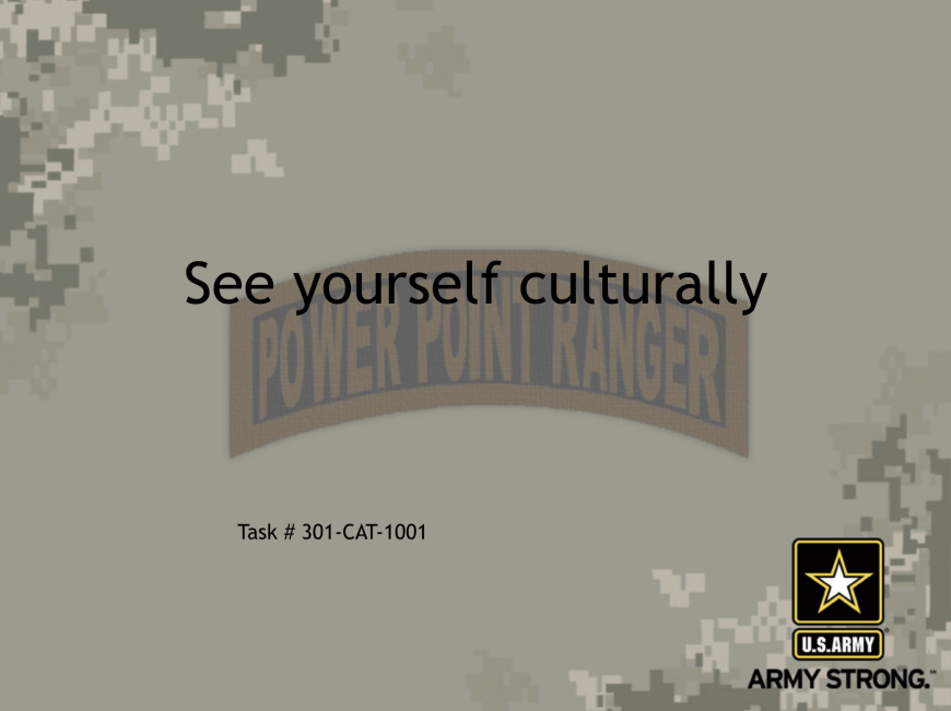 People and Culture, People and Culture, PowerPoint Ranger, Pre-made Military PPT Classes, PowerPoint Ranger, Pre-made Military PPT Classes