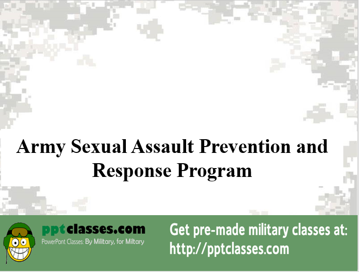 Army sexual Assault Prevention and Response Program