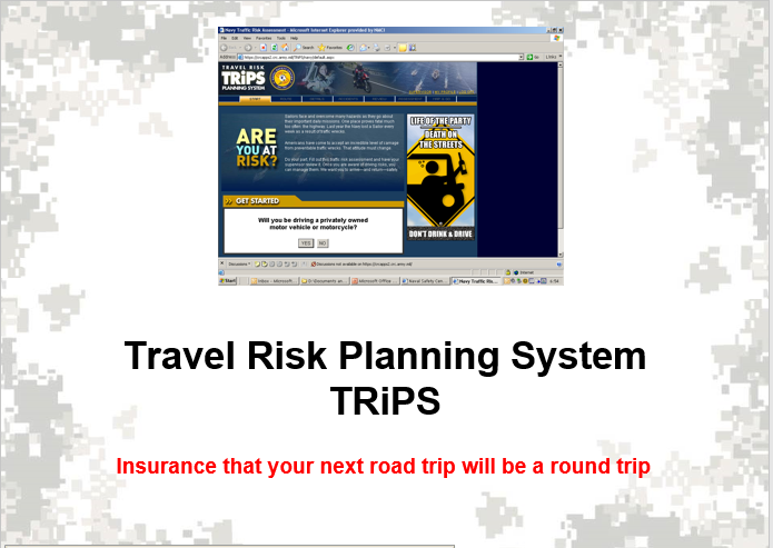 Travel Risk Planning System (Trips) overview